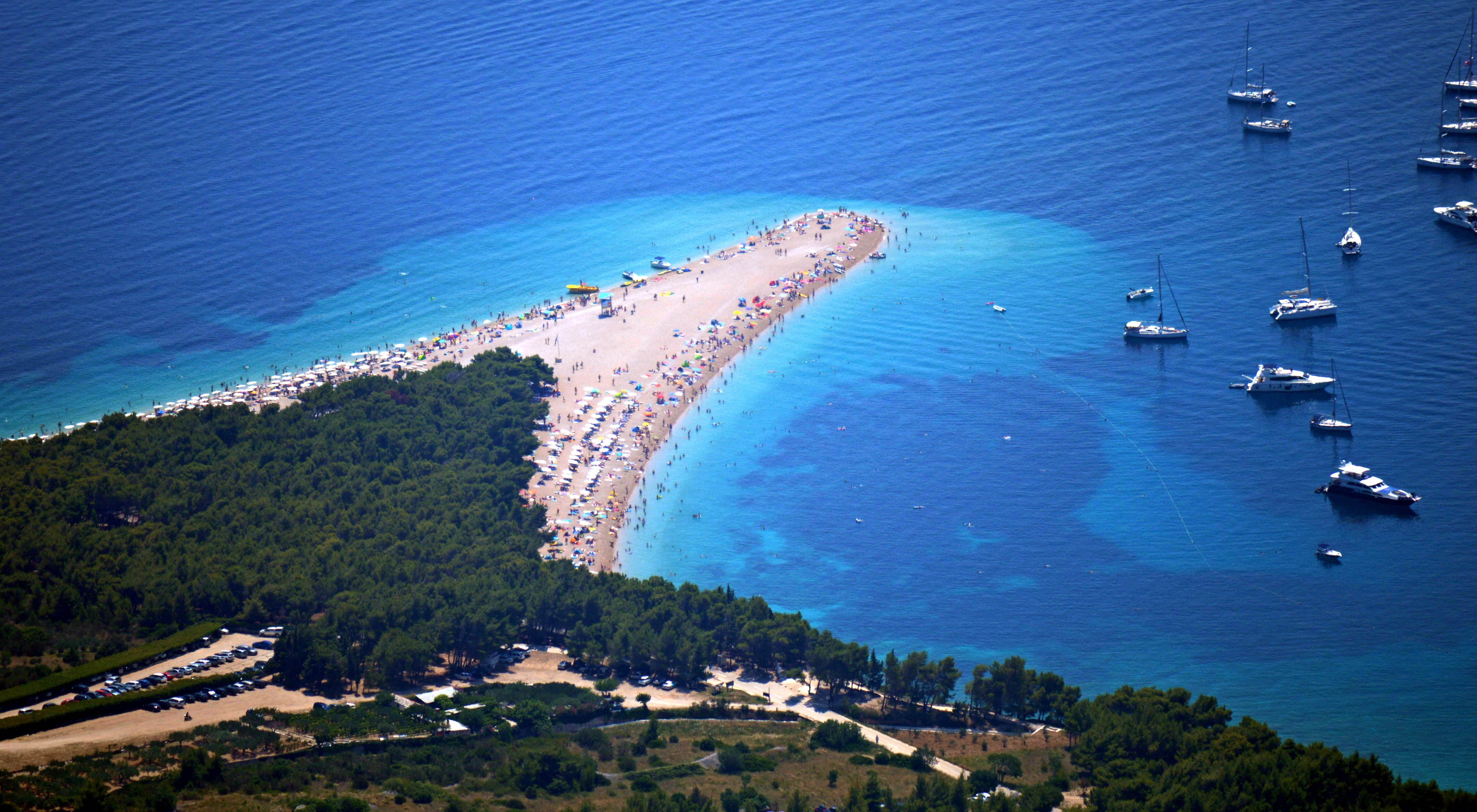 Zeilen in Kroatië: Zlatni Rat, Bol strand