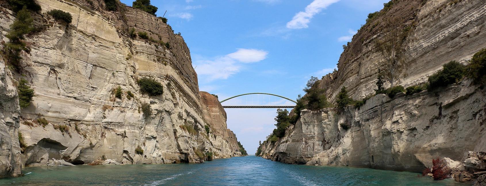 Zeilen in Griekenland: Korinthe kanaal