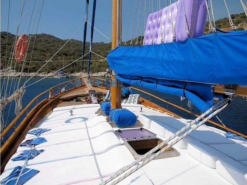 This wonderful luxe gulet sailing at Greek islands is 24 meters long and for 10 people.